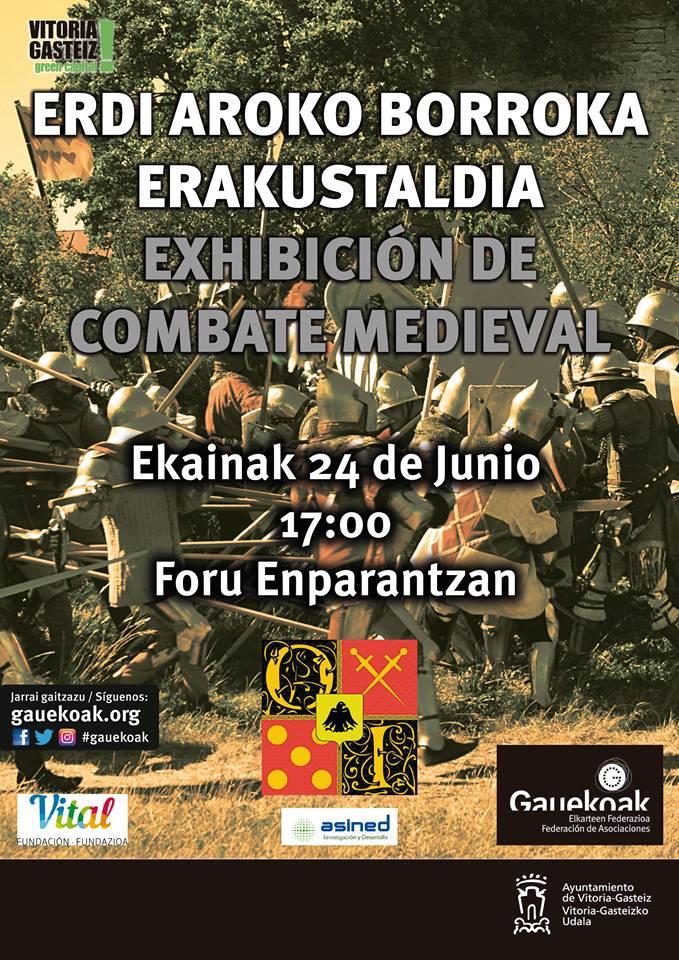 Exhibición de combate medieval